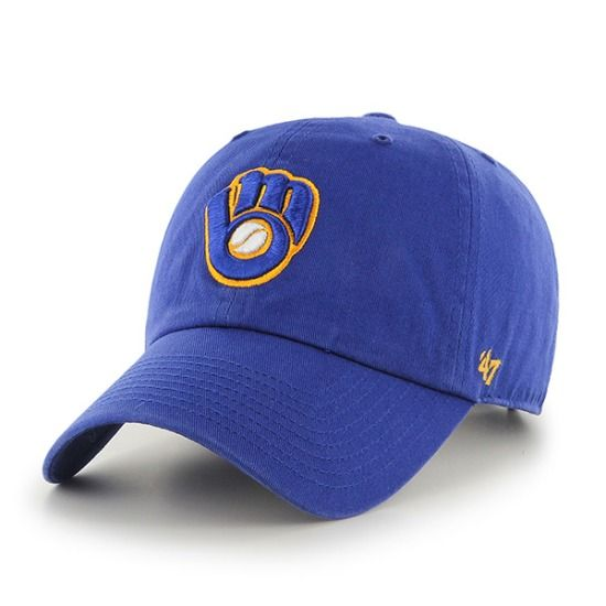 best authentic d5090 2ee25 Milwaukee Brewers Adjustable Clean-Up Hat by  47 Brand    SportsWorldChicago.com