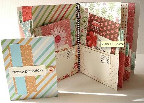 Scrapbook Book Greeting Card Organizer Birthday Cards Scrapbook Cards