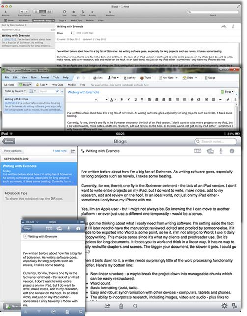 I've written before about being a big fan of Scrivener. As writing software goes, especially for long projects such as novels, it takes some beating. Currently, for me, there's one fly in the Scriv...