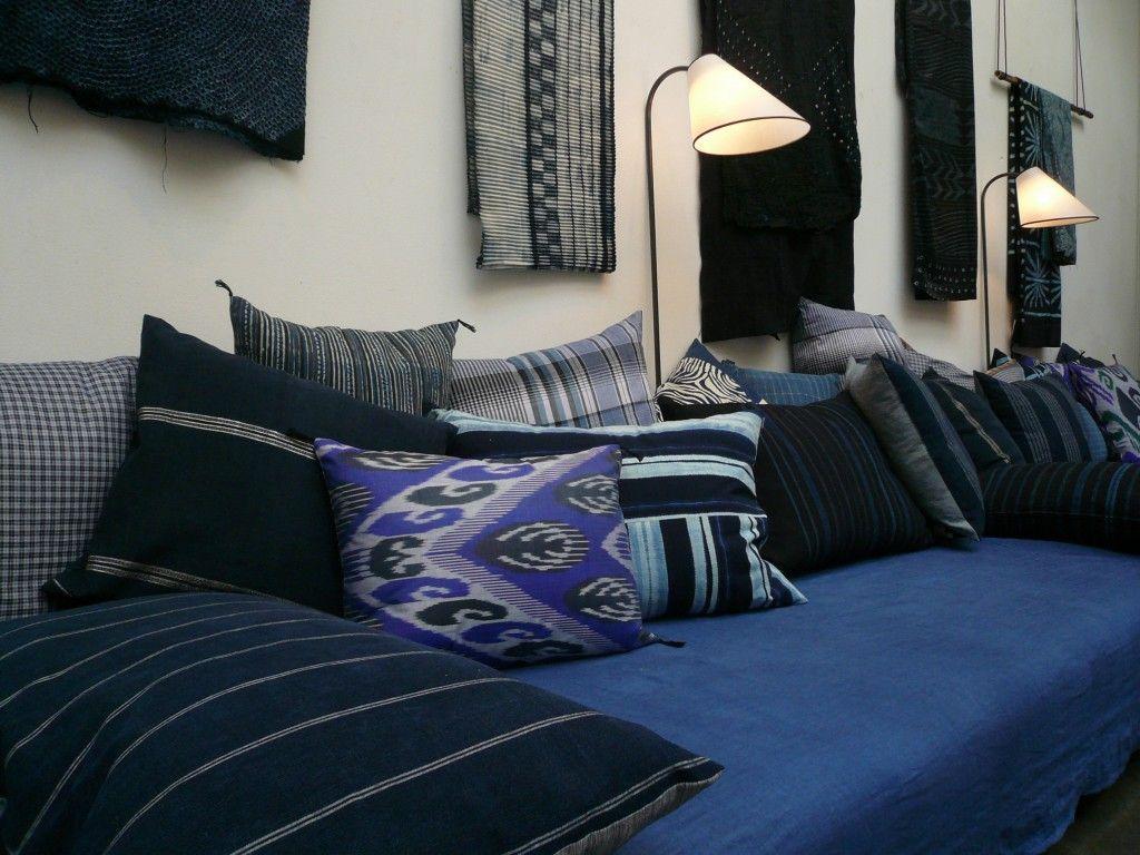 caravane-coussins-indigo | coussin / cushion | pinterest | indigo