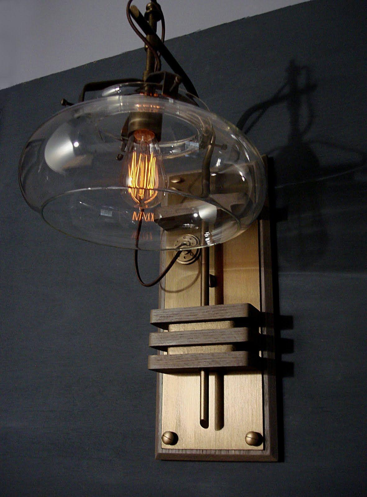 Lamp ideas Steampunk Sconce IDEAS