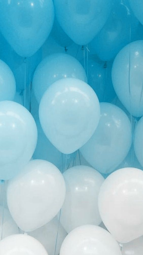 Gradient balloons Balloons Blue aesthetic, Baby blue aesthetic