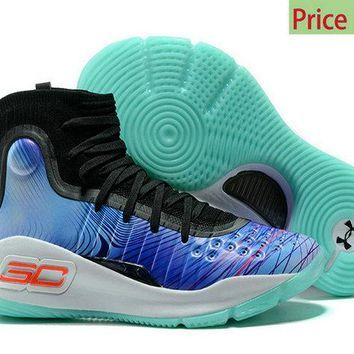 7d31bb8f4df4 Fashion 2018 Under Armour Curry 4 Supreme Pole Royal Blue White Mens  Basketball Shoes sneaker