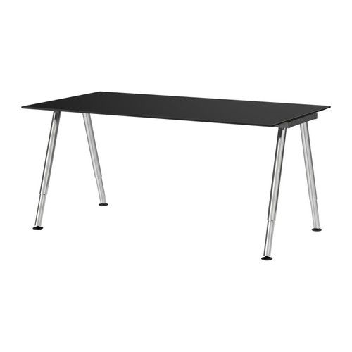 Us Furniture And Home Furnishings Ikea Glass Table Black