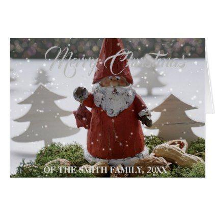 christmas greeting noel santa claus card - diy cyo customize unique