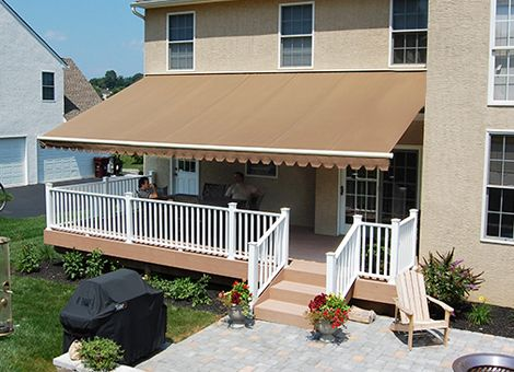 Retractable Patio Deck And Porch Awnings Bring Much Valued Shade To