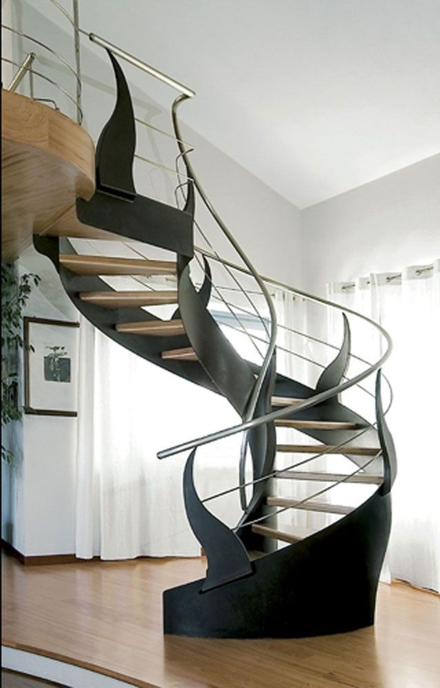 cool modern spiral staircase home modern stairs staircase rh pinterest com