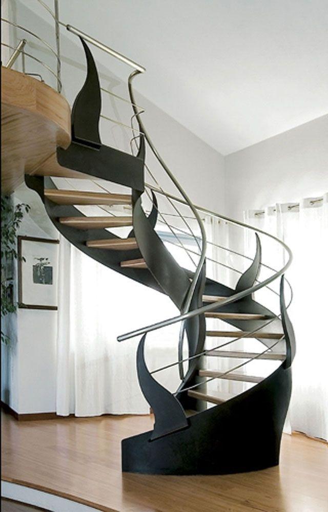 cool modern spiral staircase home pinterest stairs spiral rh pinterest com