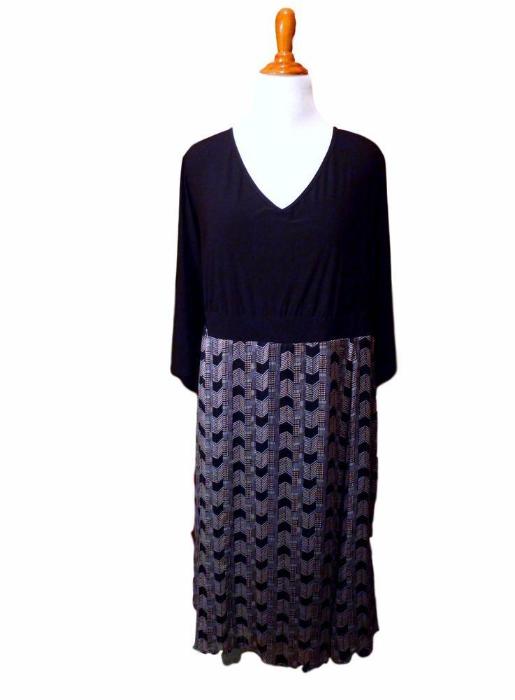 This chevron print plus size dress form Igigi is a perfect ...