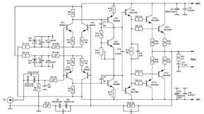 High quality monoblock power amplifier circuit design