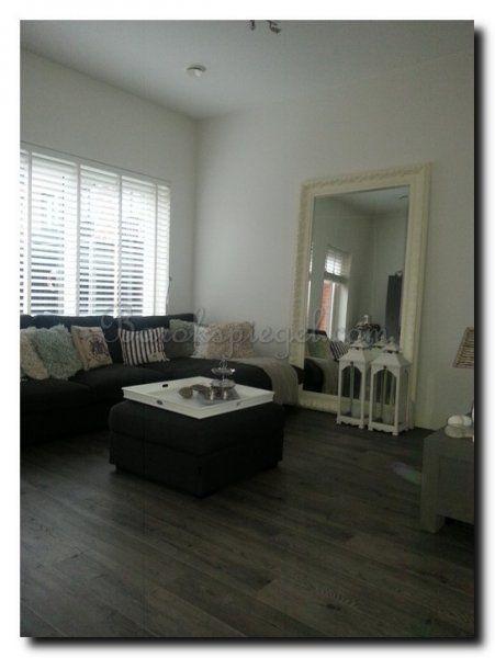 grote spiegel wit barok in woonkamer http://www.barokspiegel, Deco ideeën