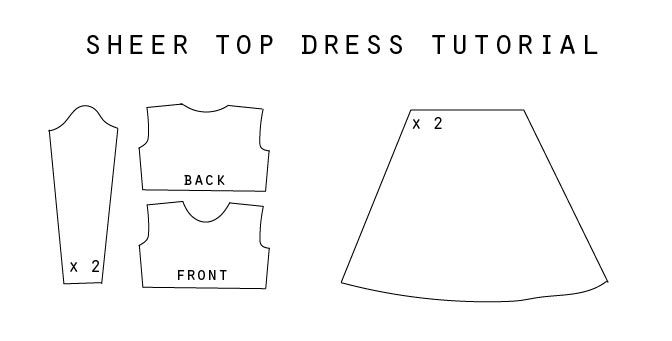 DIY SHEER TOP DRESS