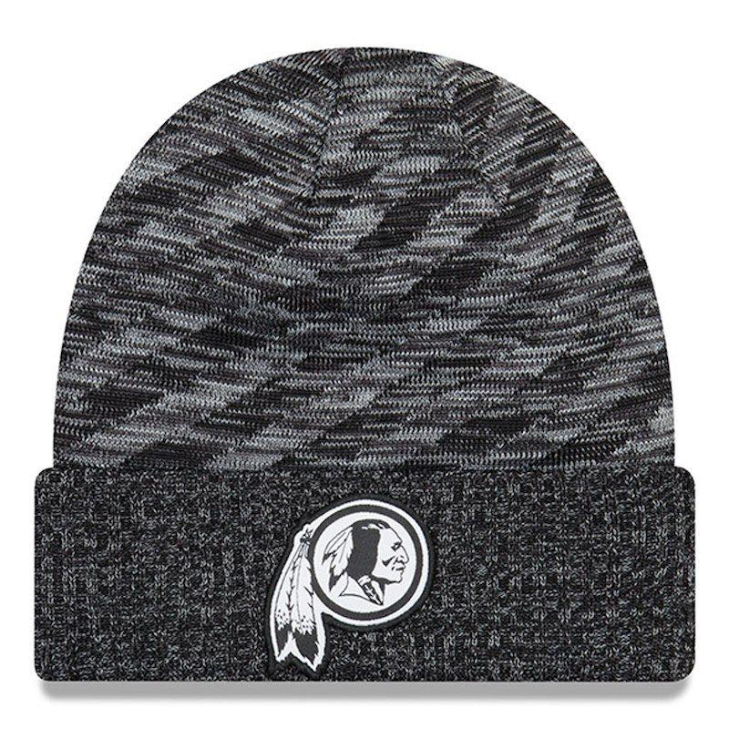 Washington Redskins New Era 2018 NFL Sideline Cold Weather Black TD Knit Hat  – Black 03ade8fc1