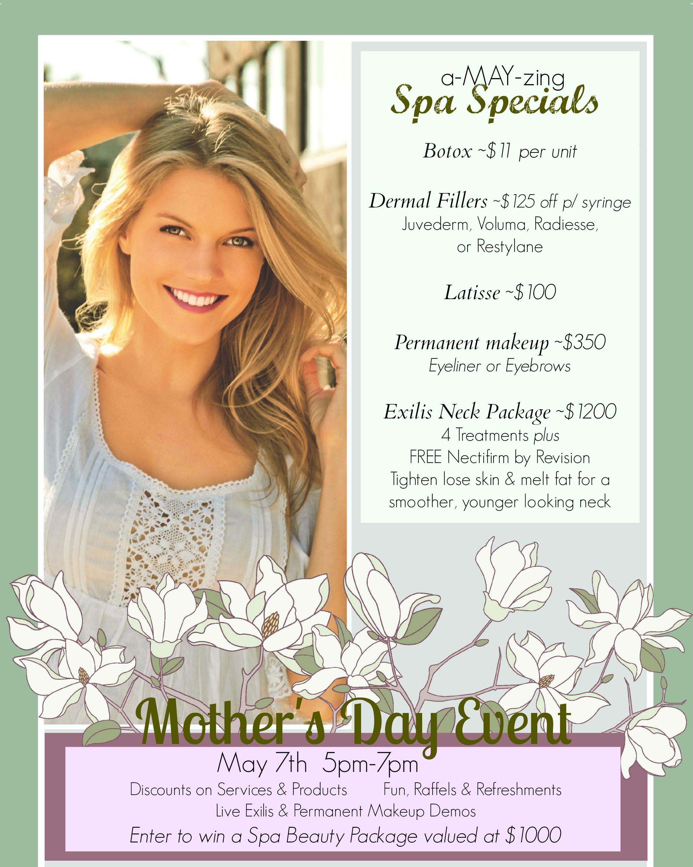 fbd9f246a3378 a-MAY-zing Spa Specials & Mother's Day Event at Charleston Medical Spa!