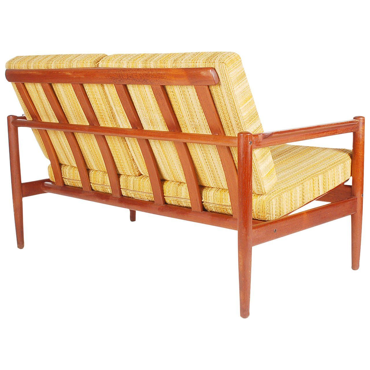 Flexsteel Sofa For Sale on A beautifully designed and crafted sofa by Borge Jensen It features solid teak frame and original upholstery Manufacturers stamp is present
