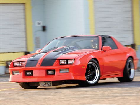 This 1988 Chevrolet Camaro features a twin-turbo ZZ4 engine
