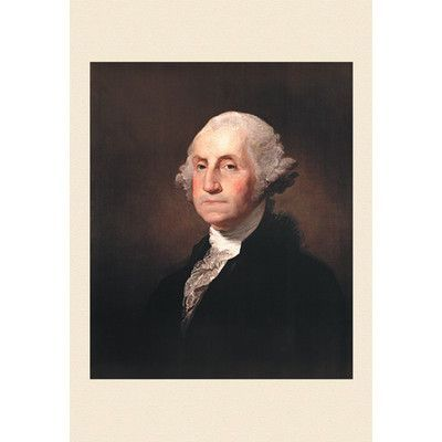 """Buyenlarge George Washington by Gilbert Stuart Painting Print on Wrapped Canvas Size: 30"""" H x 20"""" W x 0.5"""" D"""
