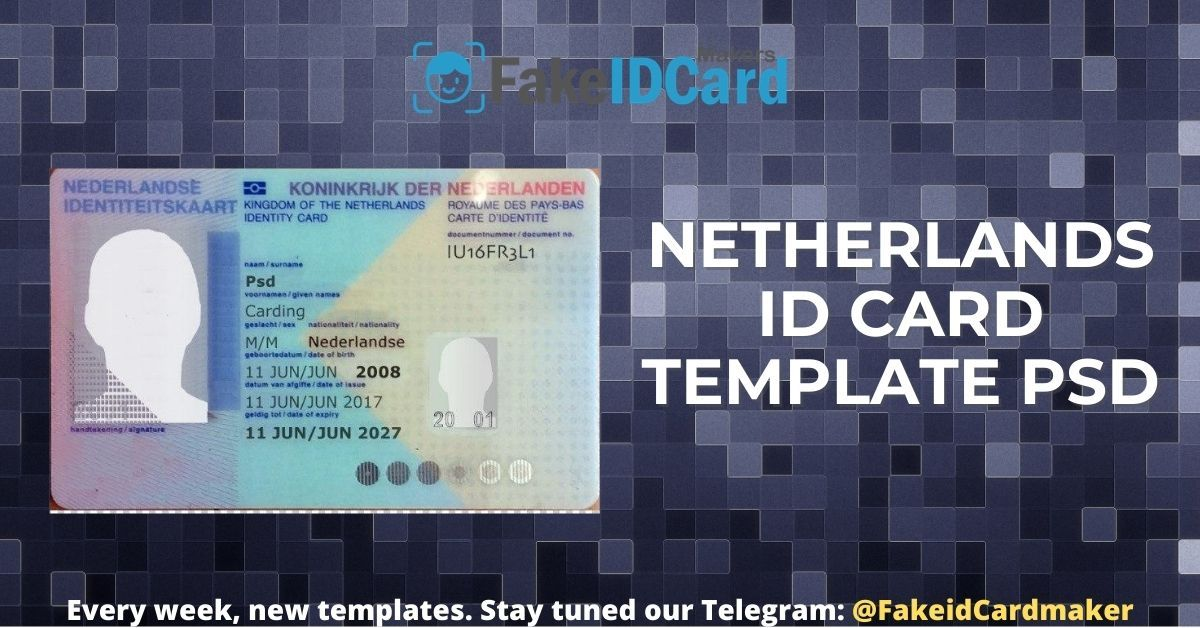 Netherlands Id Card Template Id Card Template Personalized Greeting Cards Cards