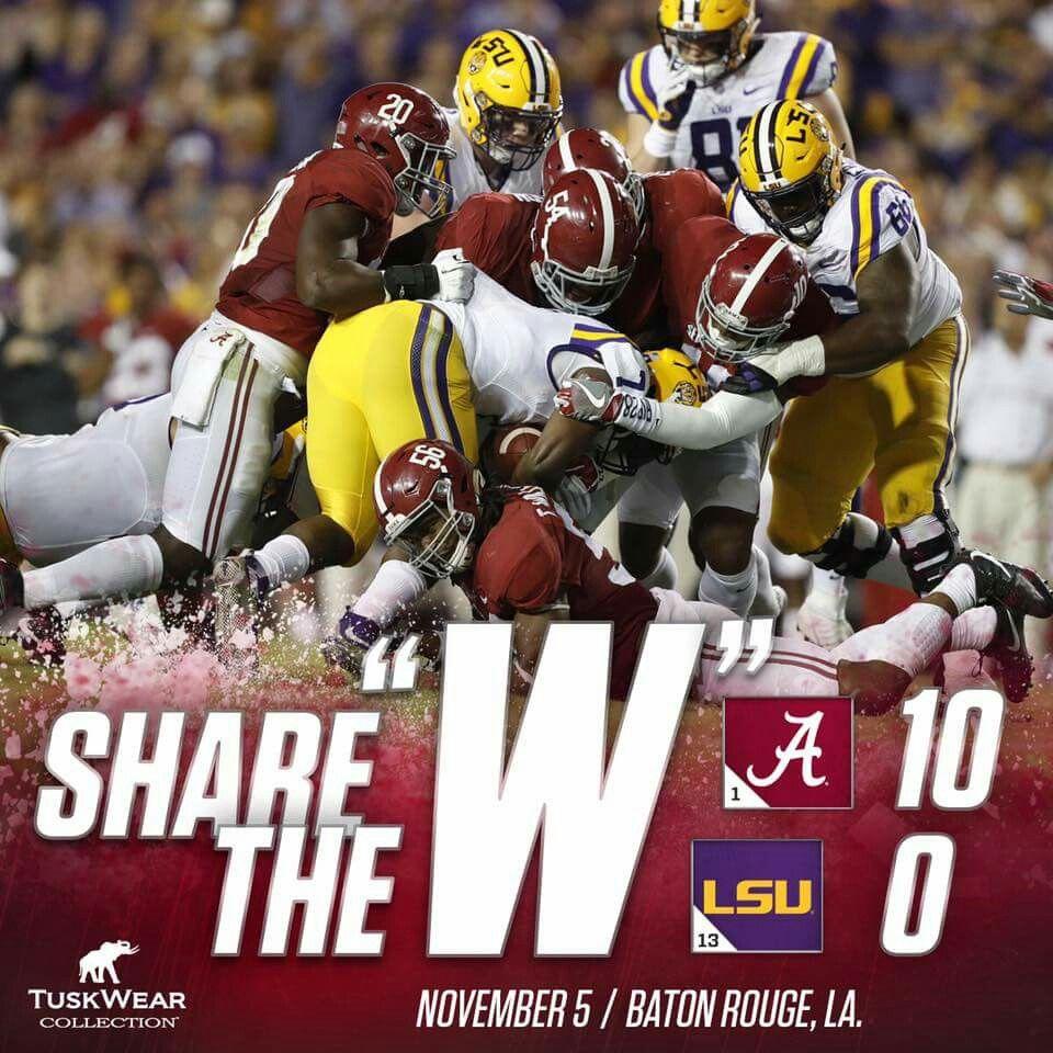 Alabama vs LSU (2016)   Alabama crimson tide football ...