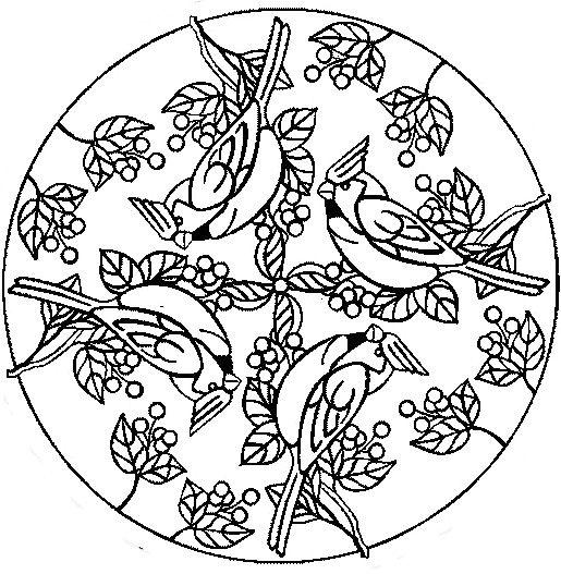 mandala coloring pages birds - photo#5