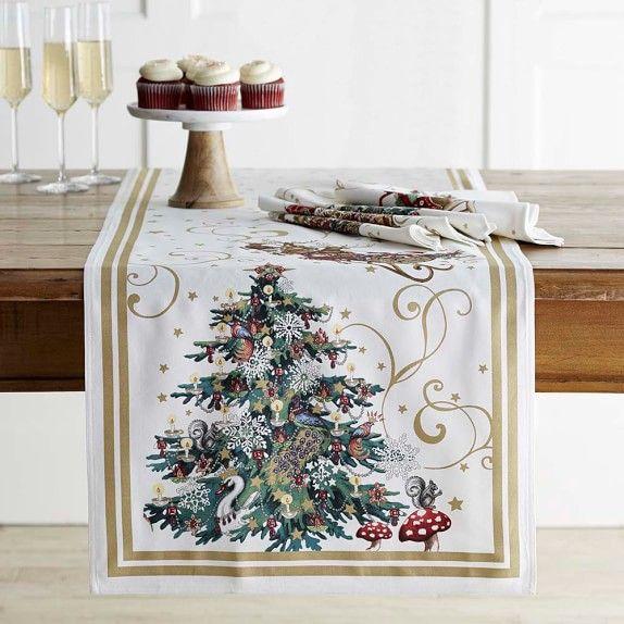Twas The Night Before Christmas Table Runner Christmas Table Cloth Christmas Runner Christmas Table Runner