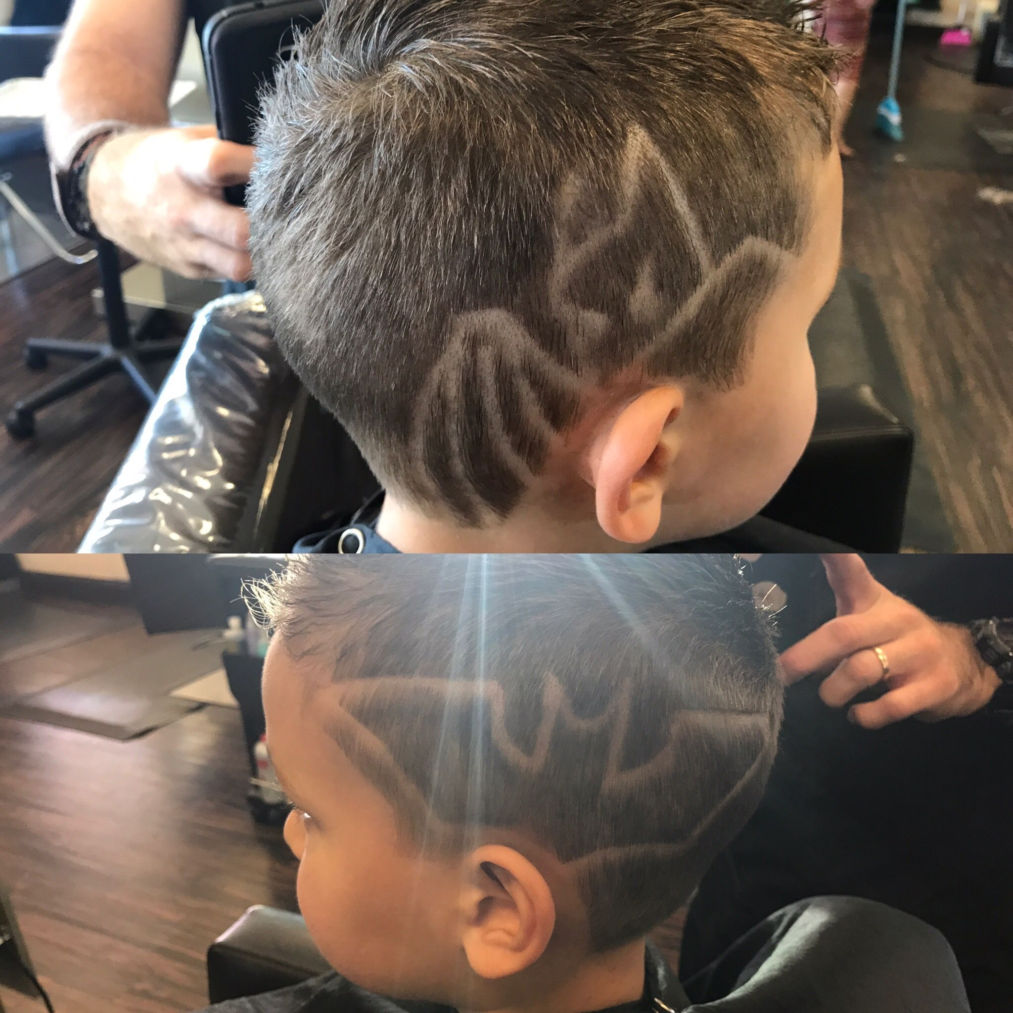 Little Boys Hair Cut Batman Hair Design By Trevor At Revelation