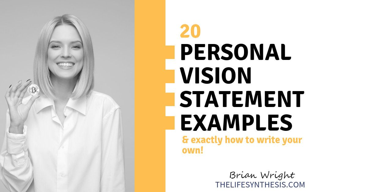 Personal Vision Statement Example Mission Examples