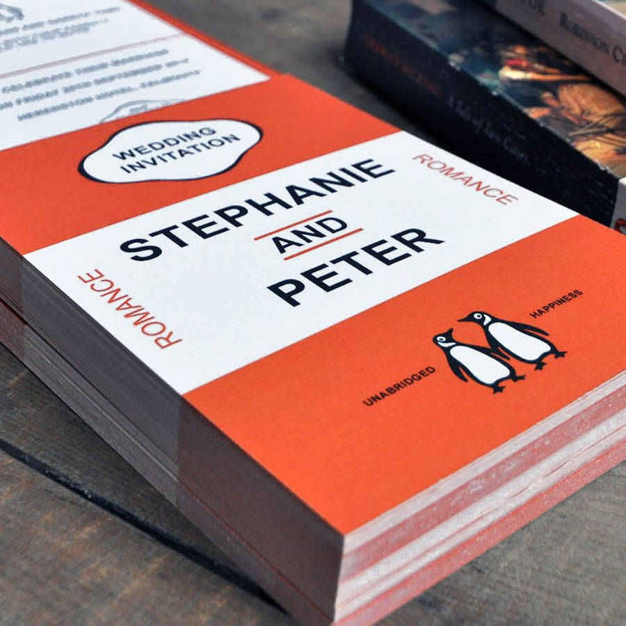 Penguin Classic Wedding Invitations And Save The