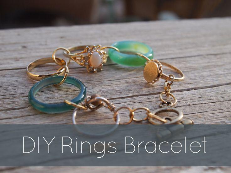 DIY Rings Bracelet #craft #jewelry #project