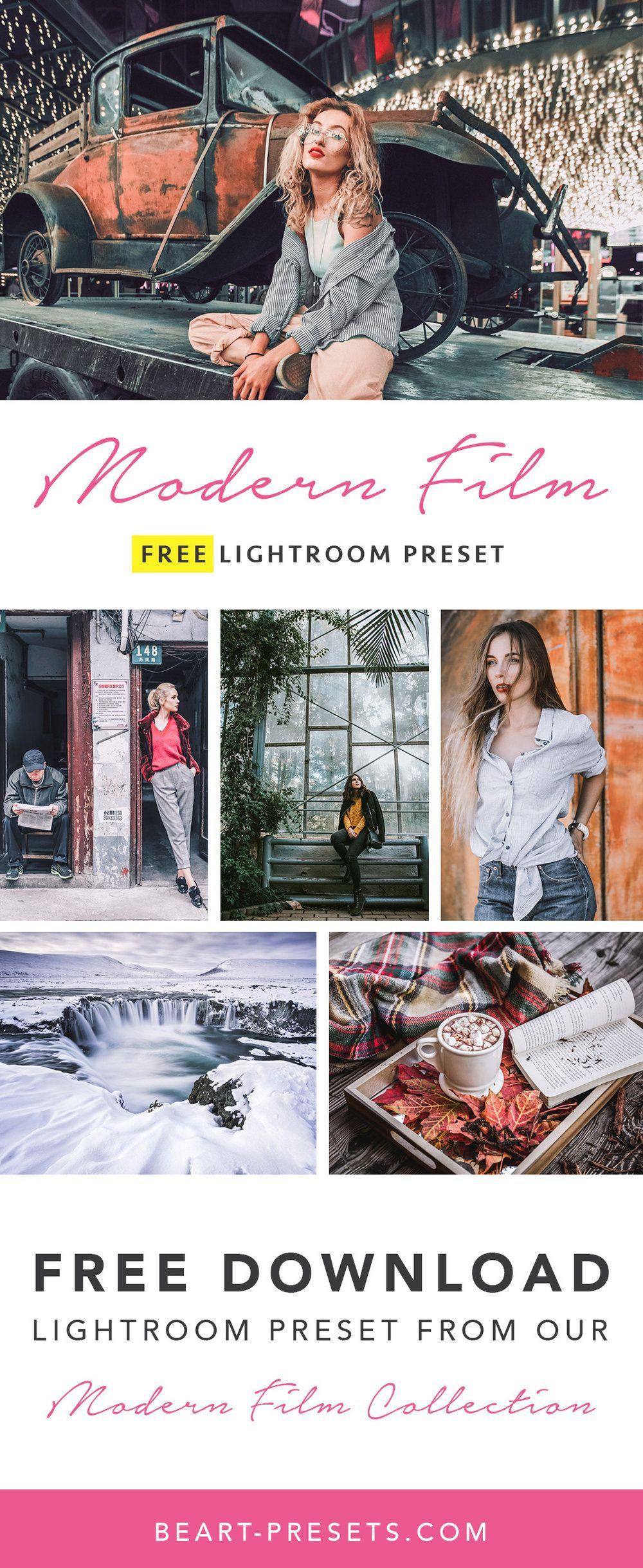 Free Modern Film Lightroom Preset | Lightroom presets