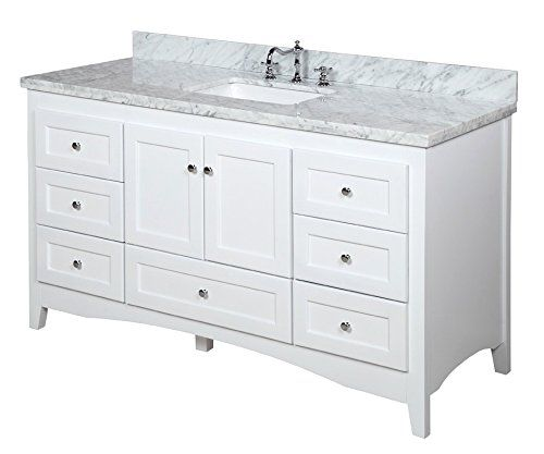 abbey 60 inch single bathroom vanity carrara white includes white rh pinterest com