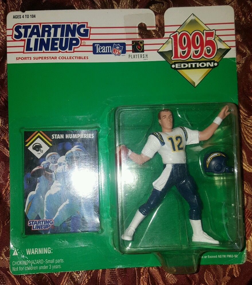 1995 Kenner Starting Lineup NFL Football San Diego Chargers Stan Humphries MOC in Toys & Hobbies, Action Figures, Sports | eBay