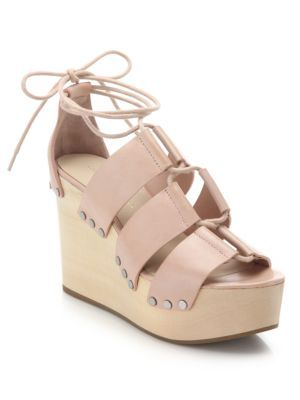 09359d2d0f8 LOEFFLER RANDALL Ines Wooden Wedge Leather Platform Sandals.   loefflerrandall  shoes  sandals