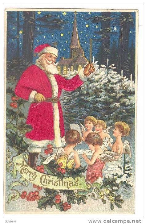 Christmas; Red Silk Suit Santa Claus , 00-10s , # 6 Item number