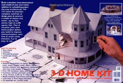 3 D Home Kit All You Need To Construct A Model Of Your Own Home Or Addition How To Books Model House Kits Interactive Gifts Hobby House