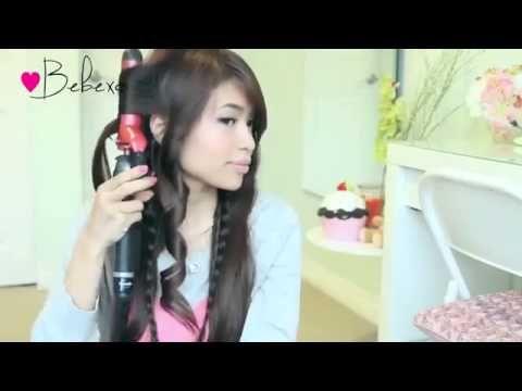 Everyday Rope Braid Bun Updo Hairstyle for Medium Long Hair Tutorial Bebexo - YouTube