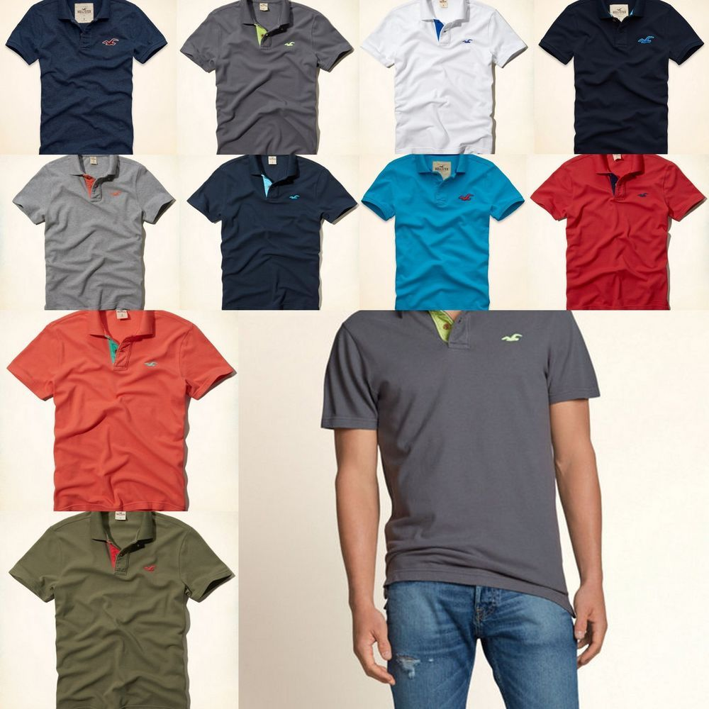 Nwt Hollister By Abercrombie Mens Polo Shirt T-shirt Sz S,M,L,XL ...
