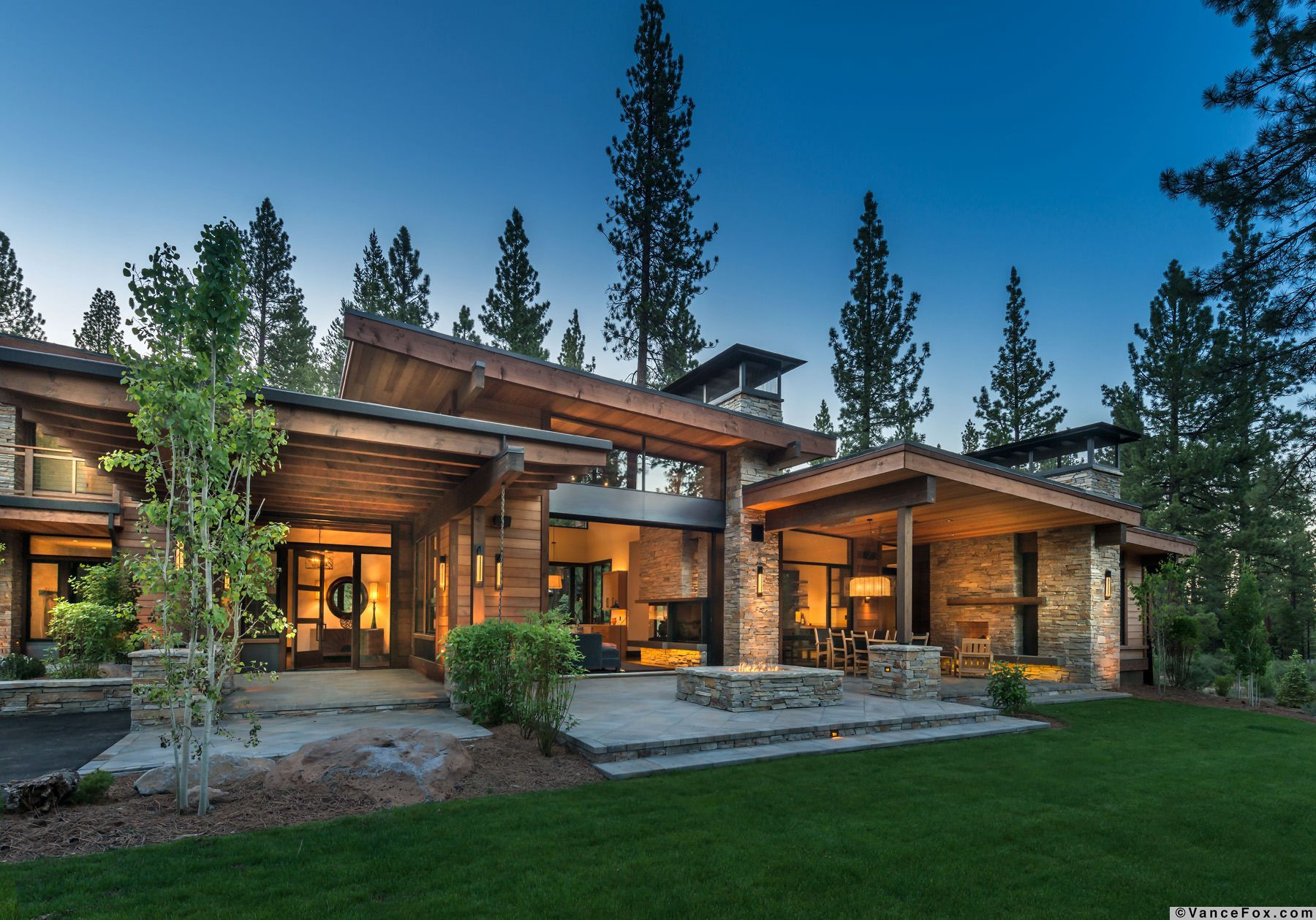 This mountain modern home was designed by
