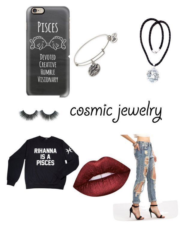 """❣️ Pisces"" by wonderariee on Polyvore featuring Casetify, Alex and Ani, NOVICA, Lime Crime and Pisces"