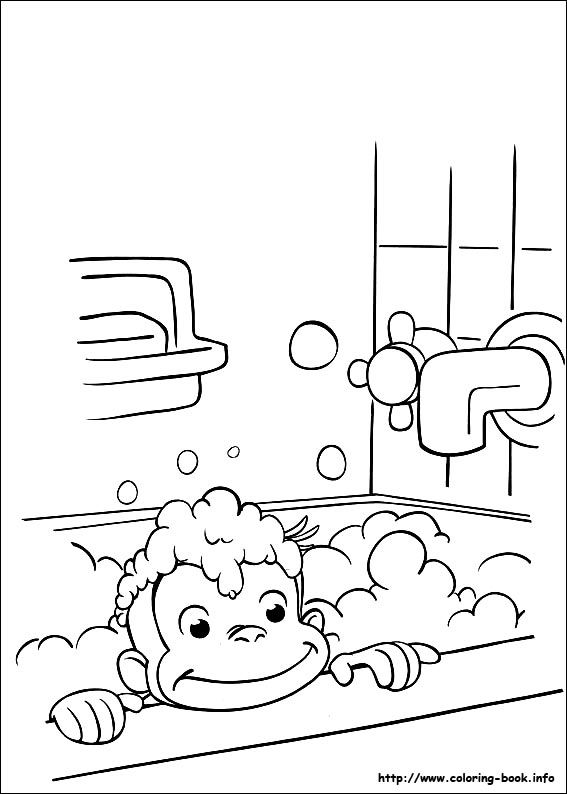 Curious George coloring picture Things for Josephine Pinterest - copy elmo coloring pages birthday