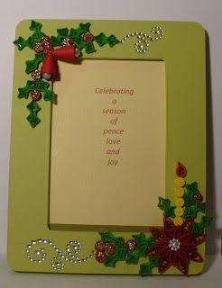 Let's create: Christmas Quilling Photo Frames