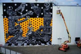 Artist Zio Ziegler will create a GoPro Mountain Games mural in Vail Village during this weekend's competitions.