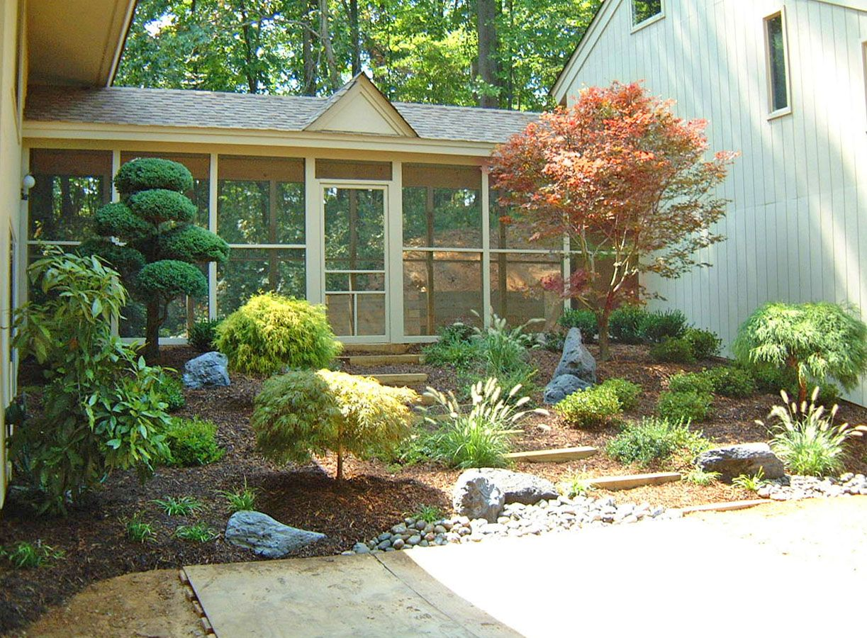 side entrance landscape design by lee 39 s oriental landscape