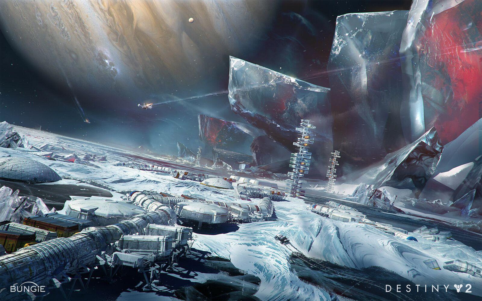 Destiny 2 Beyond Light Early Europa Concept Jesse Van Dijk On Artstation At Https Www Artstation Com Artwork Rapkb2 Destiny 2 Beyond Light Destiny Concept