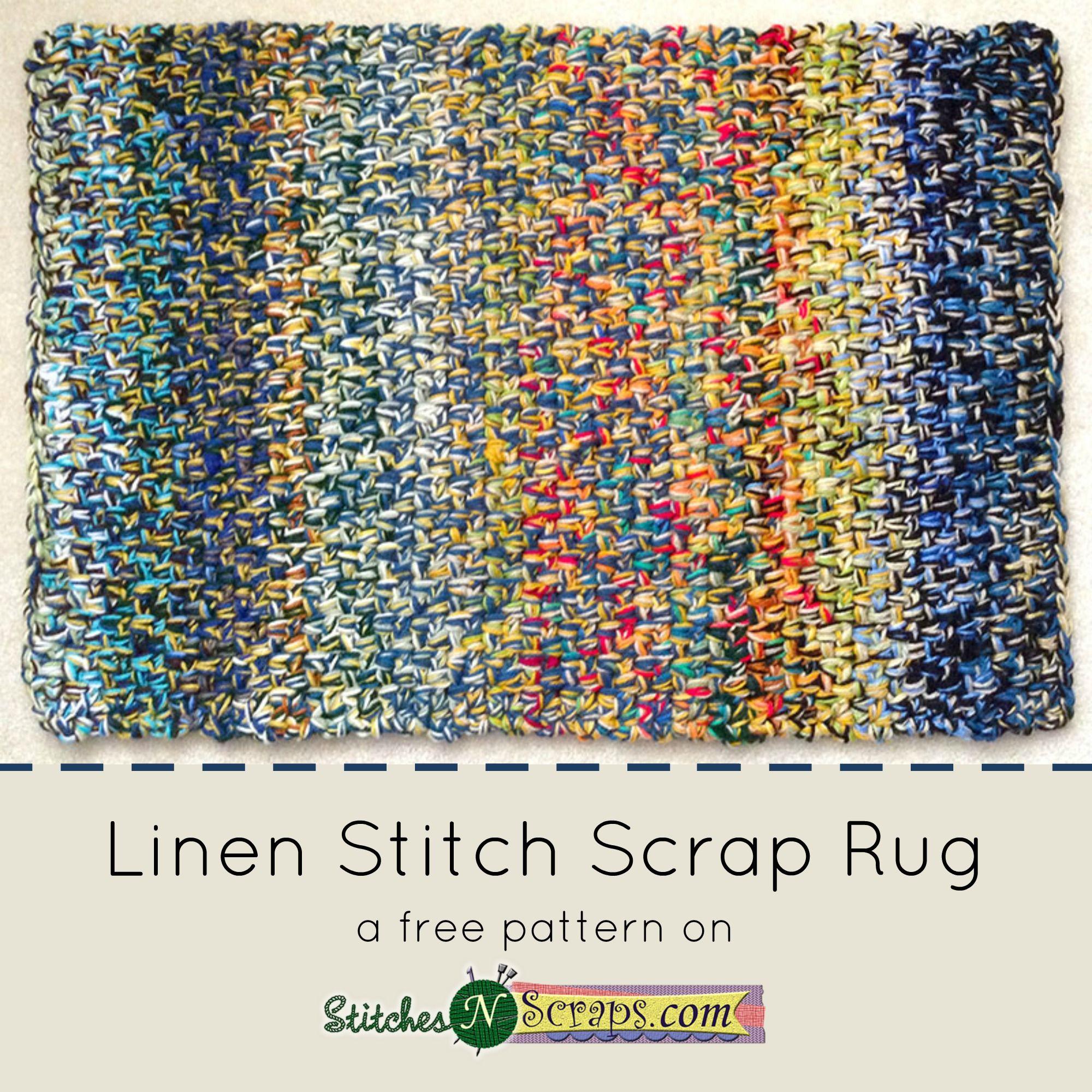 Free Pattern - Linen Stitch Scrap Rug | Crochet Crazy | Pinterest ...