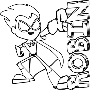 Resultado De Imagem Para Teen Titans Go Robin Coloring Pages