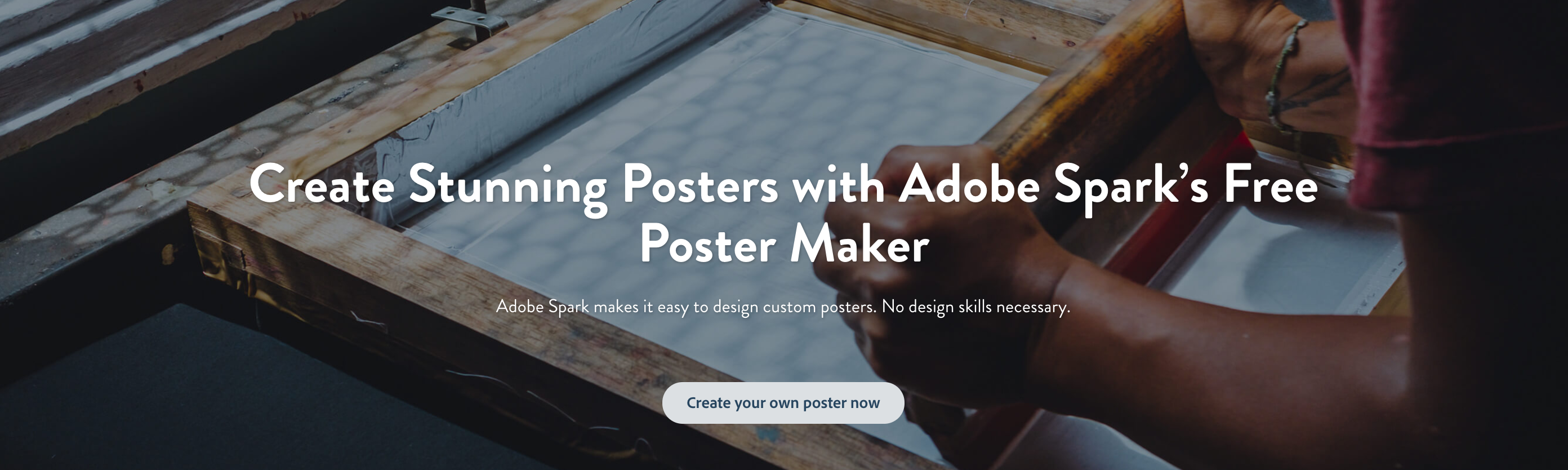 adobe spark u2019s free online poster maker helps you create