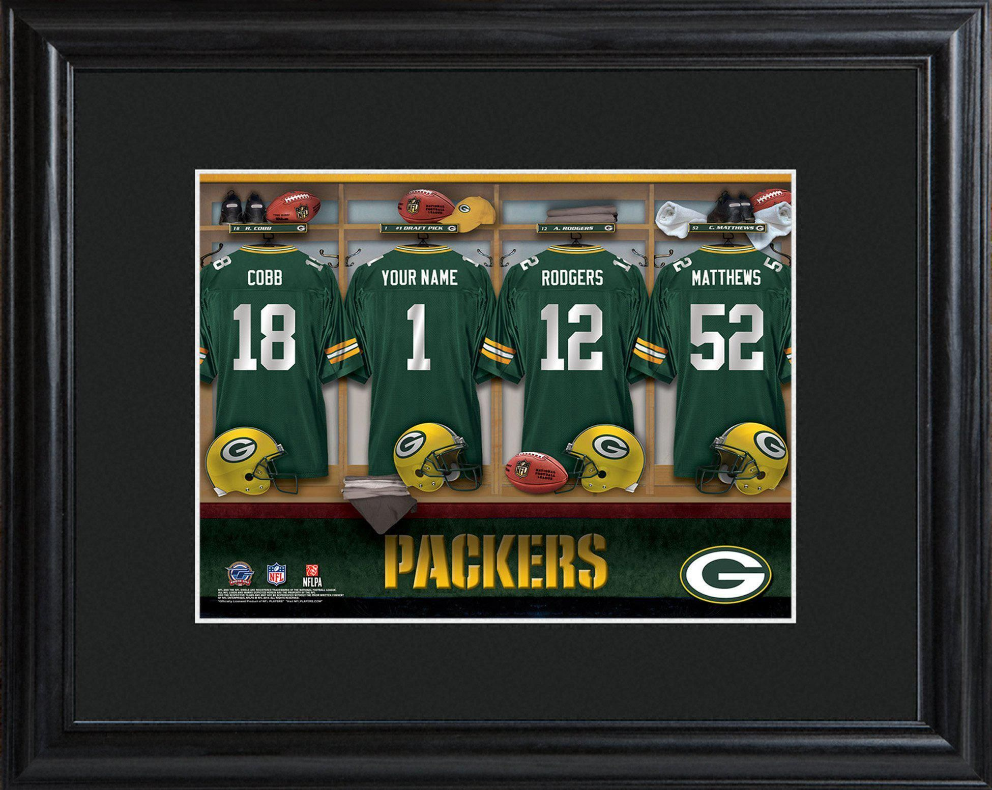 Personalized Nfl Locker Room Print Gift Packers Personalized Nfl Lockers Locker Room Photo