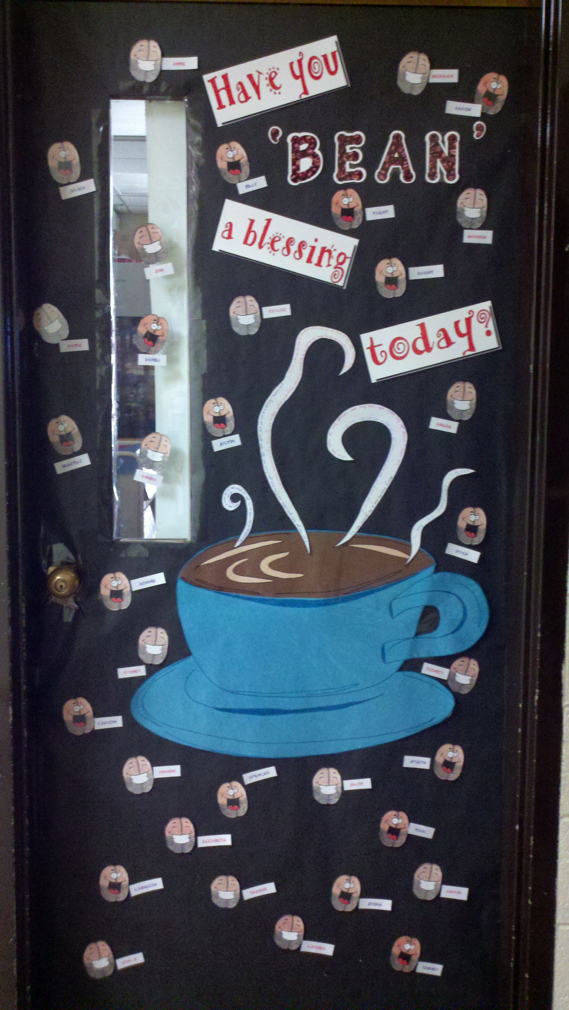 This is the door I did for our 6th grade teacher, Mrs. Potts. :D To ...