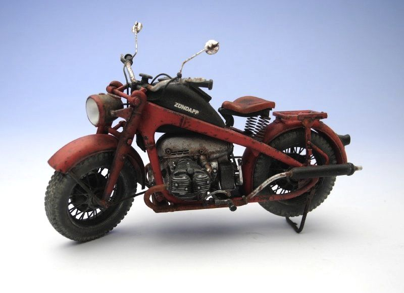 "TASCA 1/24 scale Zundapp KS750. By ""Doozy"" Yasu OKUGAWA. #motorcycle #scale_model 